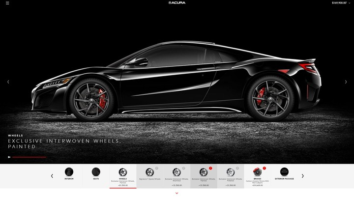 Acura NSX Orders Begin with Launch of Online Vehicle Configurator