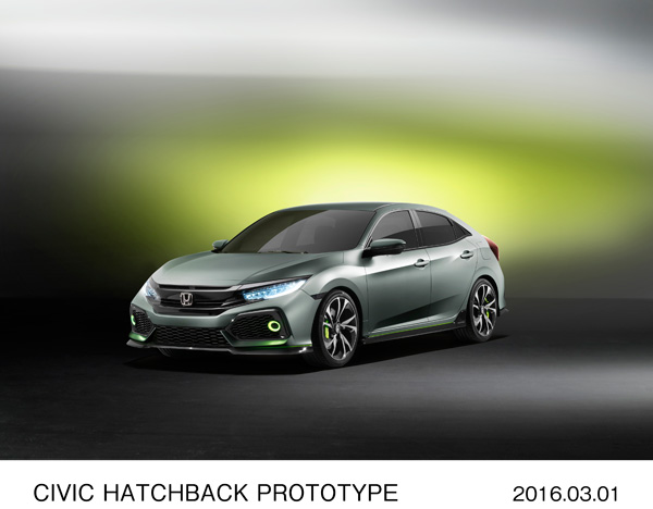 CIVIC HATCHBACK PROTOTYPE REDEFINES HONDA'S CORE MODEL FOR EUROPE