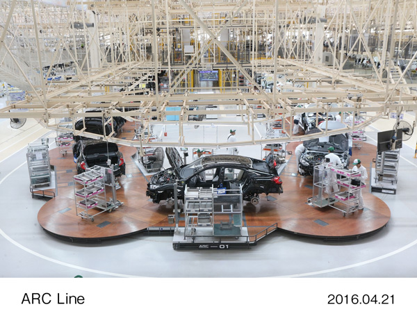 Honda Develops World's First, Unprecedented Mass-production Automobile Assembly Line, Called ARC Line - ARC Line has been introduced to new automobile plant in Thailand