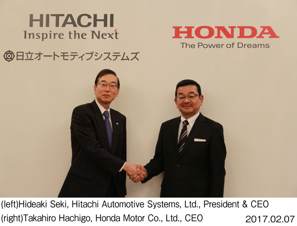 Hitachi Automotive Systems and Honda Sign MoU Aiming to Establish a Joint Venture Company for Electric Vehicle Motors