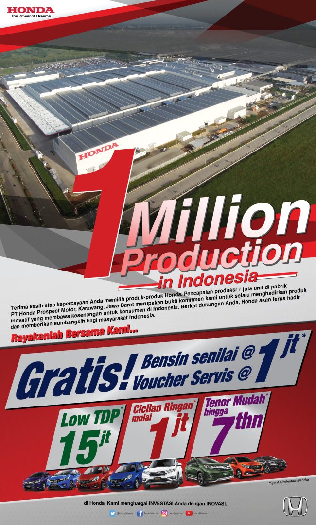 Honda 1 Million Production In Indonesia