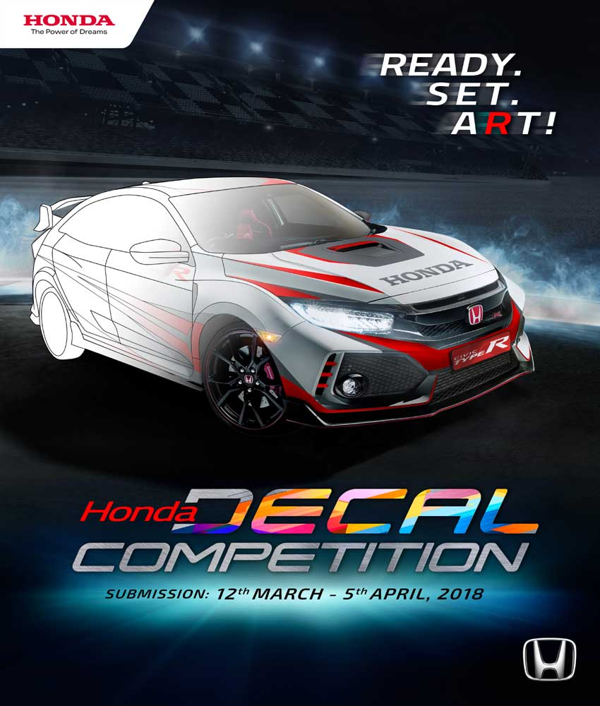 HONDA DECAL COMPETITION