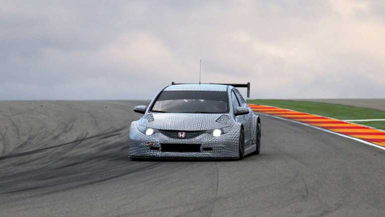 Honda Releases First Photos of its 2014 Civic WTCC Race Car
