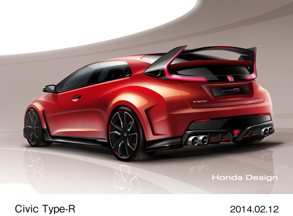 Honda Civic Type R Concept Model set for Worldwide Debut at the 2014 Geneva Motor Show