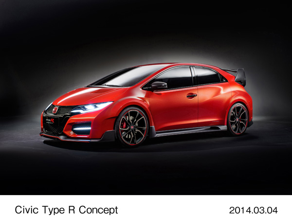 'A racing car for the road' - Honda unveils the new Civic Type R Concept at Geneva Motor Show