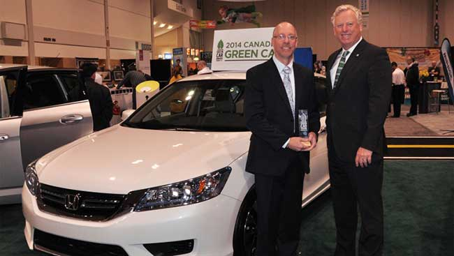 Honda Accord Hybrid Wins 2014 Canadian Green Car Award
