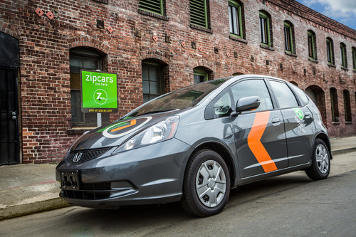 Zipcar Announces New ONE>WAY Service Featuring Spacious and Versatile 2015 Honda Fit