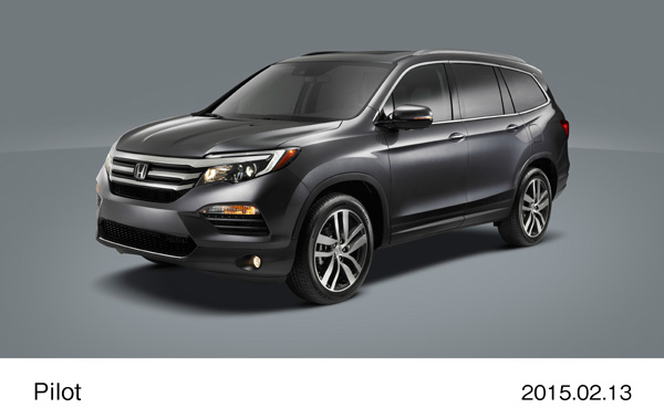 2016 Honda Pilot Redefines the Midsize, Three-Row SUV with World Debut at 2015 Chicago Auto Show